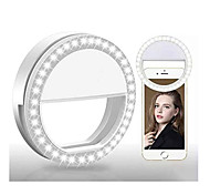 abordables -Rond Selfie Ring Light LED Smart Light 3 modes Intensité Réglable Flash pour Selfie Batteries AAA alimentées 2pcs