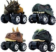 abordables -Playsets de véhicules Petite Voiture Dinosaure Jurassique Tyrannosaure tyrannosaure rex Créatif Frais PVC (Polyvinylchlorid) Plastique Mini véhicules de voiture jouets pour cadeau d'anniversaire ou