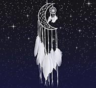 abordables -capteur de rêves lune mini artisanat fait à la main maison pendaison décoration de voiture ornement filles décor de chambre dreamcatcher