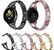 abordables -1 pièces Bracelet de Montre  pour Samsung Galaxy Conception de bijoux Acier Inoxydable Sangle de Poignet pour Montre Galaxy 3 41 mm Montre Galaxy active 3