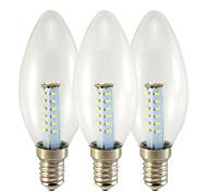abordables -2.5 W Ampoules Bougies LED 130 lm E14 E27 C35 25 Perles LED SMD 3014 Blanc Chaud Blanc 180-265 V