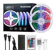 abordables -Mashang 32.8ft 10m LED bandes lumineuses Ruban LED  RGB Tiktok lumières 600LEDs changement de couleur flexible SMD 5050 avec 24 touches télécommande IR et adaptateur 100-240 V pour la maison chambre c