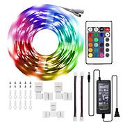 abordables -LED bandes lumineuses Ruban LED  1 * 10 m RGB 5050leds changement complet de couleur kit complet avec télécommande 24 touches et alimentation lampe d'ambiance pour chambre chambre maison cuisine décor
