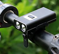 economico -LED Luci bici Luce frontale per bici Fanale anteriore LED Bicicletta Ciclismo Uscita di ricarica USB Rilascio rapido Litio-polimero 600 lm Batteria ricaricabile Bianco Ciclismo / Lega d'alluminio