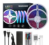 abordables -Mashang 32.8ft 10m LED bandes lumineuses Ruban LED  RGB Tiktok lumières étanche 600leds smd 5050 avec 44 touches télécommande IR et adaptateur 100-240 V pour la maison chambre cuisine TV rétro-éclaira