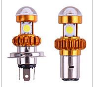 economico -1 pz ba20d h4 led 3cob led 6000k faro moto moto scooter luce super luce brillante lampada accessori moto drl led