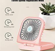 abordables -1 pcs nouveau portable suspendu cou ventilateur usb de poche voyage en plein air maison pliant ventilateur de charge trésor main mini ventilateur rechargeable