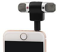 abordables -3,5 mm jack microphone micro stéréo pour l'enregistrement de téléphone mobile studio interview microphone 4 broches pour smartphone