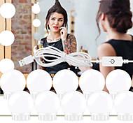 abordables -1set LED Maquillage Miroir Lumière Vanité LED Ampoules Cosmétiques Lumineux Maquillage Miroirs Ampoule Lumières Lumineuses Applique Pour Coiffeuse