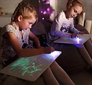 abordables -Jouet Educatif Tableau à feuilles mobiles pour le dessin Dessin avec lumière Plastique LCD Dessinez avec plaisir Enfant Garçons et filles pour des cadeaux d'anniversaire ou des cadeaux
