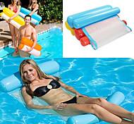 abordables -hamac d'eau personnes seules augmenter matelas pneumatique gonflable transat de plage flottant en plein air pliable lit de couchage chaise