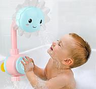 abordables -Jeu de Bain Jouets aquatiques Jouets pour piscine Pomme de douche de bain Jouets de bain Jouet de baignoire Fleur de soleil ABS Sécurité Amusement Douceur Baignoire L'heure du bain Salle de Bain Eté