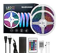 abordables -Mashang led bandes lumineuses Ruban LED  32.8ft 10 m rgb tiktok lumières étanche 300leds smd 5050 avec 24 touches ir télécommande et 100-240 v adaptateur pour maison chambre cuisine tv rétro-éclairage