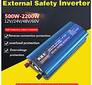 economico -Carmaer inverter 12v / 24v / 220v 1200w convertitore di tensione per auto convertitore per auto convertitore 12v / 24v 220v inverter per auto solare caricatore per inverter