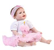 abordables -Vêtements de poupées Reborn Baby Accessoires de poupée Reborn Tissu en Coton pour 20-22 pouces Reborn Doll Poupée Reborn Non Incluse Princesse Jupe Doux Pur fait main Fille 2 pcs