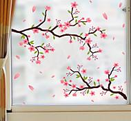 abordables -intimité givrée fleurs motif fenêtre film maison chambre salle de bain verre fenêtre film autocollants autocollant autocollant 58 x 60 cm