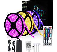 abordables -Bandes lumineuses LED 15m (3x5m) 5050450 LED 10mm RVB non étanche avec télécommande IR 44 touches Bande LED flexible