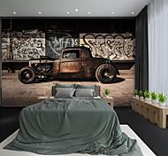abordables -Personnalisé auto-adhésif mural maître voiture adapté pour fond mur café boutique hôtel décoration murale art