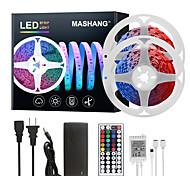 abordables -Mashang led bandes lumineuses Ruban LED  32.8ft 10 m rgb tiktok lumières 300leds smd 5050 avec 44 touches ir télécommande et 100-240 v adaptateur pour maison chambre cuisine tv rétro-éclairage bricola