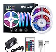 abordables -Mashang 32.8ft 10m LED bandes lumineuses Ruban LED  RGB Tiktok lumières 600LEDs changement de couleur flexible SMD 2835 avec 24 touches télécommande IR et adaptateur 100-240 V pour la maison chambre c
