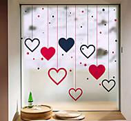abordables -givré intimité amour motif fenêtre film maison chambre salle de bain verre fenêtre film autocollants autocollant autocollant 58 x 60 cm