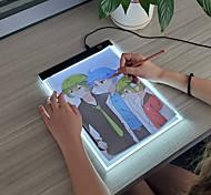 abordables -Coussin lumineux A4 Tableau lumineux A4 Planche à dessin légère Jouet à peindre Traceur pour dessin Plastique Portable LED Copie Enfant Garçons et filles pour des cadeaux d'anniversaire ou des cadeaux