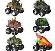 abordables -Dinosaure Jurassique Tyrannosaure tyrannosaure rex Playsets de véhicules Petite Voiture Mignon Créatif Frais PVC (Polyvinylchlorid) Plastique Mini véhicules de voiture jouets pour cadeau / Enfants