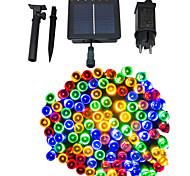 abordables -50m guirlande lumineuse à énergie solaire à double usage 500 leds blanc chaud blanc bleu étanche extérieur solaire alimenté solaire lampe de jardin lampe au sol jardin lumière 1 set