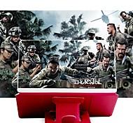 abordables -Loupe d'écran Loupe d'écran de téléphone 3D 8 inch Pliable Compatible avec tous les smartphones Support de téléphone avec amplificateur d'écran 2-4 X pour les films Vidéos Jeux Usage quotidien Cuir