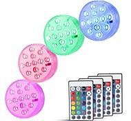 economico -luci sommerse esterne 6w luci subacquee adatte per vasi da piscina acquari impermeabili telecomandate dimmerabili batterie bianche rgb alimentate 13 perline led
