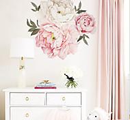 abordables -belle floral / botanique stickers muraux avion stickers muraux stickers muraux décoratifs pvc décoration de la maison décalque mural décoration murale 1 pc