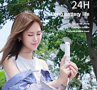 economico -Ventilatore da collo a sospensione portatile Mini ventilatore pieghevole ricaricabile da USB Climatizzatore portatile da viaggio Dispositivo di raffreddamento da viaggio 3 marce regolabile