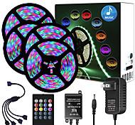 abordables -zdm 65ft 4x 5 mètres musique synchrone joyeux multicolore bande de lumière 2835 rgb led bande de lumière flexible avec 20 touches ir contrôleur en option avec kit d'adaptateur dc12v