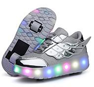 abordables -Fille Chaussures d'Athlétisme LED Chaussures Recharge USB Halloween PVC Chaussures Heelys Petits enfants (4-7 ans) Quotidien Noir Bleu Rose Eté