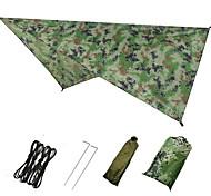 abordables -Abris pour Hamac Extérieur Respirabilité Vestimentaire Réutilisable réglable flexible Pliage Polyester pour 2 - 3 personne Chasse Plage Camping Bleu Couleur camouflage Vert 230*140 cm