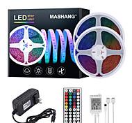 abordables -Mashang 32.8ft 10m LED bandes lumineuses Ruban LED  RGB Tiktok lumières étanche 600leds smd 2835 avec 44 touches télécommande IR et adaptateur 100-240 V pour la maison chambre cuisine TV rétro-éclaira