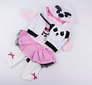 abordables -Vêtements de poupées Reborn Baby Accessoires de poupée Reborn Tissu en Coton pour 20-22 pouces Reborn Doll Poupée Reborn Non Incluse Panda Doux Pur fait main Fille 4 pcs