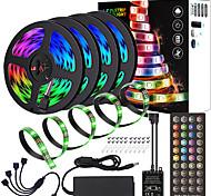 abordables -ZDM étanche haute qualité PCB noir 20 m (4 * 5 m) synchronisation de la musique contrôle synchrone barre lumineuse flexible 5050 RVB IR 40 contrôleur clé avec kit adaptateur 12 V 8 A