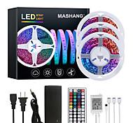 abordables -Mashang 15 m (3 * 5 m) LED bandes lumineuses RVB Tiktok lumières 900 LEDs changement de couleur flexible SMD 2835 avec 44 touches IR télécommande et adaptateur 100-240 V pour la maison chambre cuisine