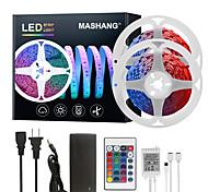 abordables -Mashang LED bandes lumineuses Ruban LED  32.8ft 10m RGB Tiktok Lights 300leds SMD 5050 avec 24 touches IR télécommande et adaptateur 100-240V pour la maison chambre cuisine TV rétro-éclairage bricolag