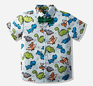 economico -Bambino Bambino (1-4 anni) Da ragazzo maglietta Camicia Manica corta Animali Azzurro Cotone Bambini Top Moda città