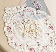 abordables -1 pièce 30 * 45 cm style français dentelle napperon décor à la maison tissu de table floral décoratif napperon tasse coaster