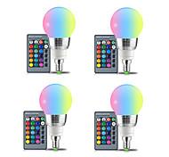 abordables -4 pcs E27 LED Ampoule 5 W RGBW Blanc 16 Couleur LED Lampe AC85-265V Modifiable RGB Ampoule Lumière avec Télécommande Fonction de Mémoire E14