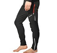 abordables -Homme Pantalon Velo Cyclisme Hiver Coolmax® Spandex Polyester Vélo Pantalons / Surpantalons Bas Réfléchissant Coupe Vent Respirable Des sports Noir VTT Vélo tout terrain Vélo Route Vêtement Tenue