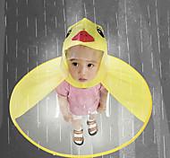 abordables -mignon imperméable dessin animé canard enfants manteau de pluie ufo enfants parapluie chapeau magique mains libres hauts garçons et filles coupe-vent poncho bébé