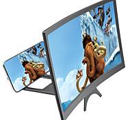 abordables -Loupe d'écran Loupe d'écran de téléphone 3D 12 inch Pliable Compatible avec tous les smartphones Support de téléphone avec amplificateur d'écran Écran de courbe 3-5 X pour les films Vidéos Jeux Usage
