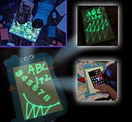 economico -Tavolo da disegno leggero Lavagna a fogli mobili Disegnare con la luce Rilievo di disegno magico 3D Elefante Dinosauro Balena Con LED Disegna con divertimento leggero Sviluppo del disegno Sviluppare