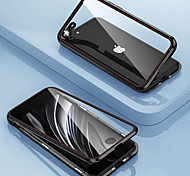 economico -telefono Custodia Per Apple Per retro Integrale Custodia ad adsorbimento magnetico iPhone 12 Pro Max 11 SE 2020 X XR XS Max 8 7 6 A specchio Doppia setola Protezione per obiettivo della fotocamera