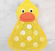abordables -salle de bain jouet sac de rangement pour enfants suspendus ventouse forte ventouses canard grenouille étanche net poches murales