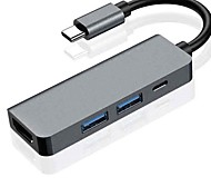 economico -Unestech OTG Supporta la funzione di consegna dell'alimentazione ZS-SGH4T1 USB 3.1 USB C a HDMI 1.4 USB 3.0 USB 3.1 USB C Hub USB 4 Porti Per Windows, PC, laptop